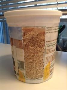 yogurt canister rice