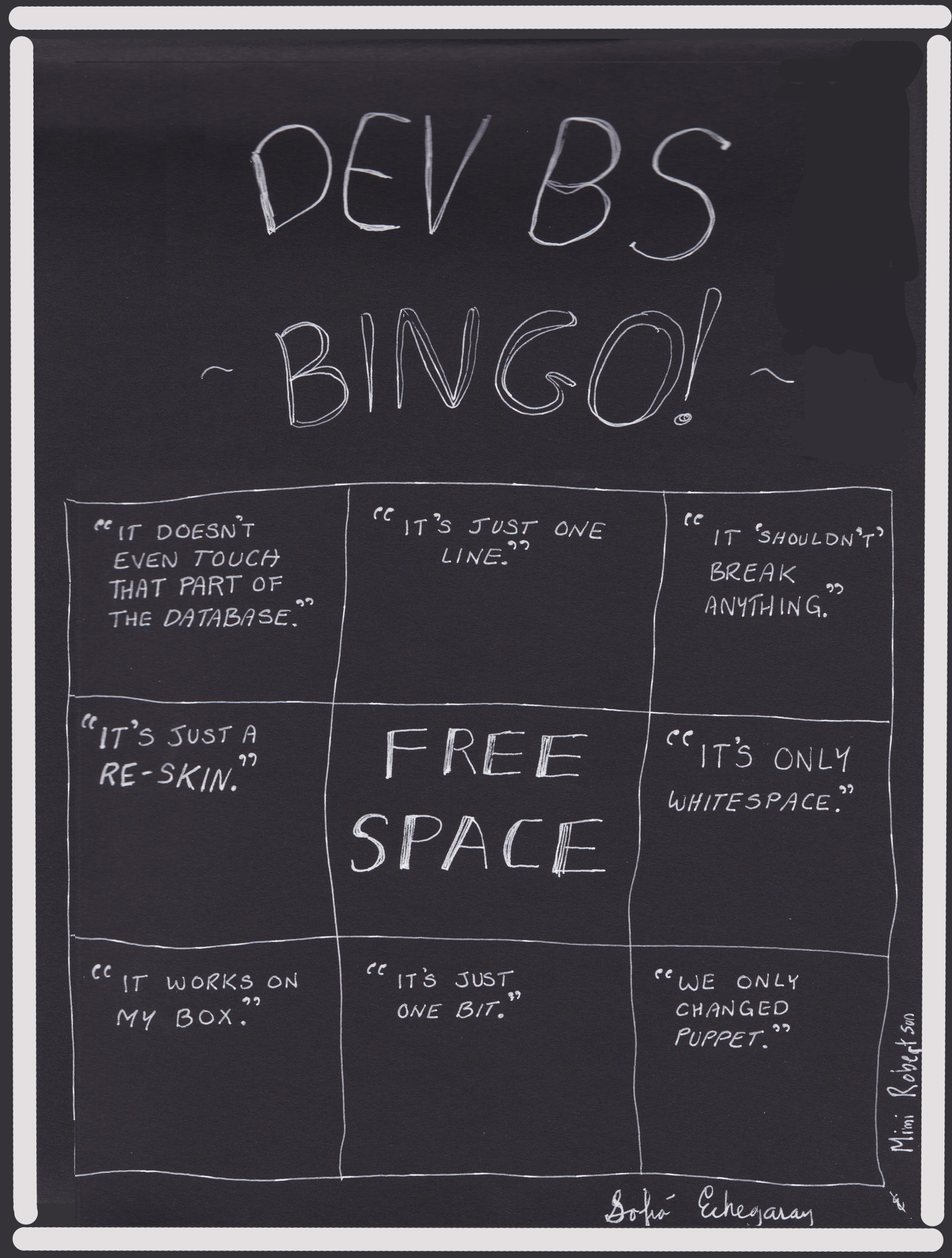 Dev BS Bingo - Echegaray & Robertson
